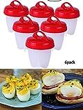 #4: Egg Cooker Hard & Soft Maker, BPA Free, Non Stick Silicone, Poacher, Boiled, Steamer, Eggies AS SEEN ON TV,6 Pcs - Park