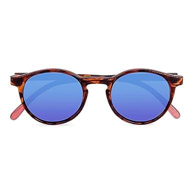 CORAL Sunglasses SANTA BARBARA - Gafas de sol carey y lentes espejo revo azul polarizadas. Acabado mate.: Amazon.es: Ropa y accesorios