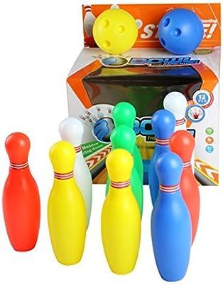 85eaf6661c9ea yoptote Bowling Kegelspiel Set Kegeln Boule-Spiel Interaktive Spielzeug mit  2 Bälle und 10 Kegel Spiel Drinnen Draußen für Kinder Jungen Mädchen ab 3 4  5 6 ...