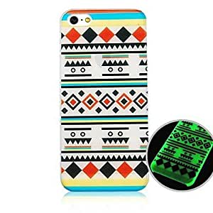 iPhone 5S Case, WKell National Pattern Fluorescence after Sunniness Hard Back Case for iPhone5/5S