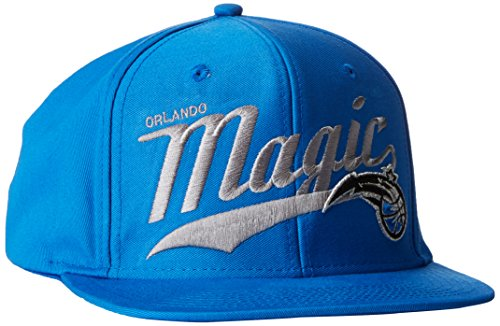 NBA Orlando Magic Men's Tail Sweep Flat Brim Snapback Hat, Blue, One Size by adidas