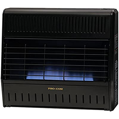 ProCom Dual Fuel Vent-Free Blue Flame Garage Heater - 30,000 BTU, Model# MD300TGA