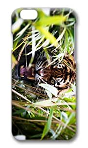 Adorable angry tiger in bush Hard Case Protective Shell Cell Phone Cover For Apple Iphone 6 Plus (5.5 Inch) - PC 3D by icecream design