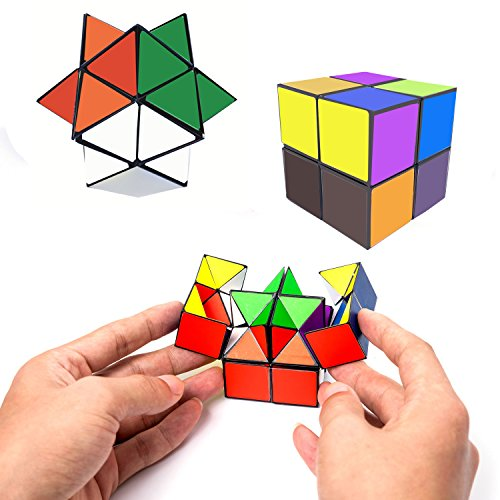 (Tiandirenhe Infinite Magic Cube Puzzle Set Transforming Geometric Decompression Star irregular Brain Teasers Toys for Kids Adult)