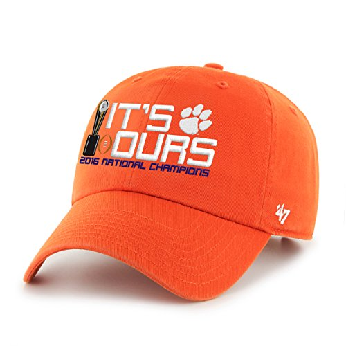 NCAA Clemson Tigers 2016 CFP National Champions Clean Up Adjustable Hat, One (National Champions Pennant)
