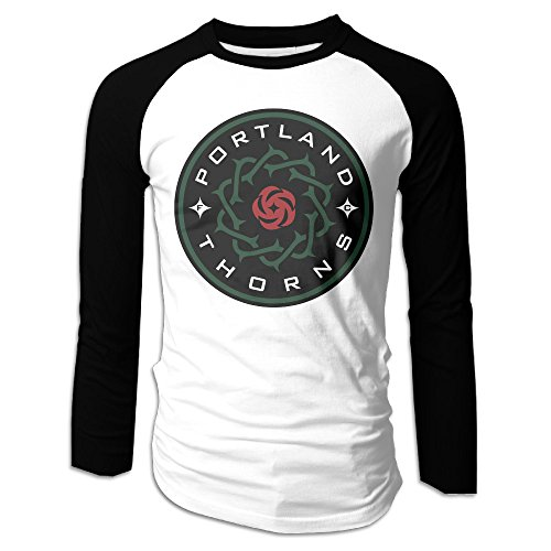 Creamfly Mens Portland Thorns FC Long Sleeve Raglan Baseball Tshirt XXL