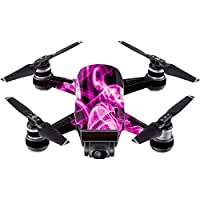 Skin For DJI Spark Mini Drone – Pink Flames | MightySkins Protective, Durable, and Unique Vinyl Decal wrap cover | Easy To Apply, Remove, and Change Styles | Made in the USA