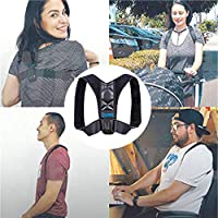 Comezy Back Posture Corrector for Women ? Men - Powerful Magic Stickers Adjustable Clavicle Back Brace - Providing Pain Relief From Neck, Back and Shoulder( Universal )