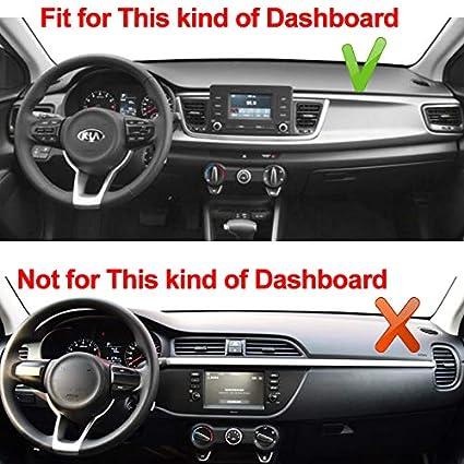CFHMLK Car Dashboard Cover Pad Dashboard Cover Carpet DashMat Dash Mat per Kia Rio 4a generazione 2017 2018 2019 YB Series LHD Dashmat