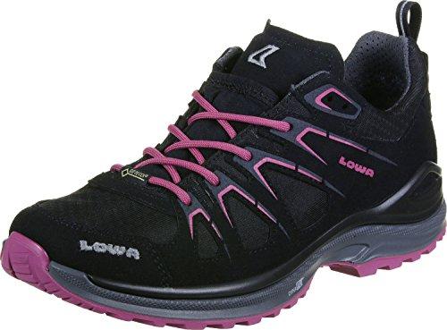 LOWA Ladies INNOX EVO GTX LO Ws 320616-9952 negro / baya, Gore Tex, intercambiable, tamaño 37,5-40,5 negro rosa