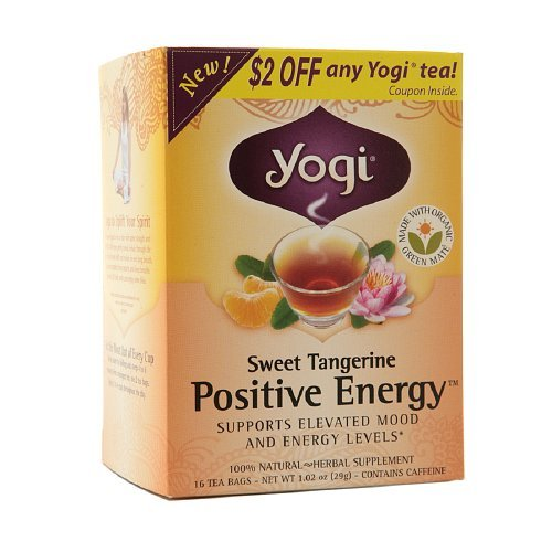 Yogi Tea Herbal Tea, Sweet Tangerine Positive Energy 1.02 oz(Pack of 2)