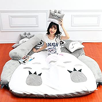 Amazoncom Plush Totoro Sleeping Bag Sofa Bed Double Foam