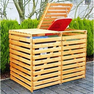 Wooden 2 Wheelie Bin Storage