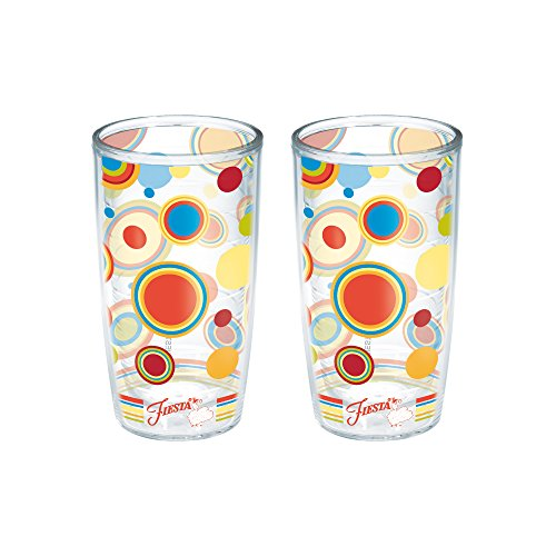 Dots Tumbler (Tervis Fiesta Poppy Dots Tumbler, 16-Ounce, 2-Pack)