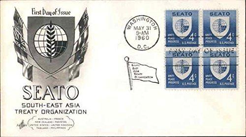 SEATO - South-East Asia Treaty Organization Block of Stamps Original First Day Cover