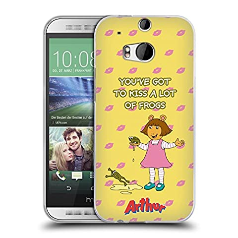 Official Arthur Kiss Frogs Characters Soft Gel Case for HTC One M8 / M8 Dual Sim (Htc One M8 Case Frog)