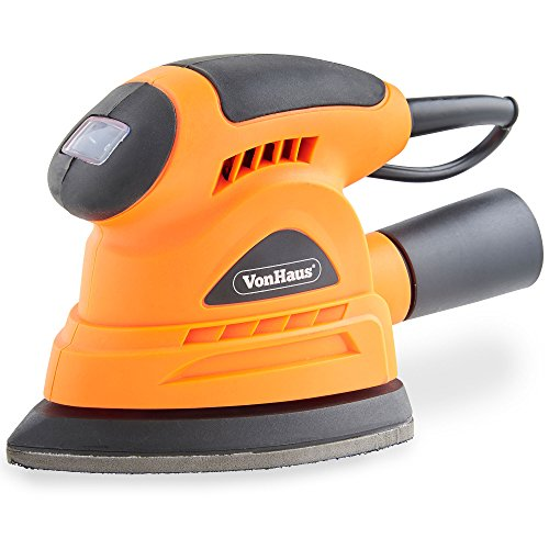 VonHaus 130W Palm Compact Detail Sander with Dust Extraction Port - Compact...