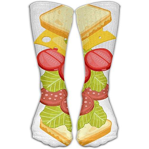 (Happy Toast Butter Women & Men Socks Soccer Sport Tube Stockings Length)