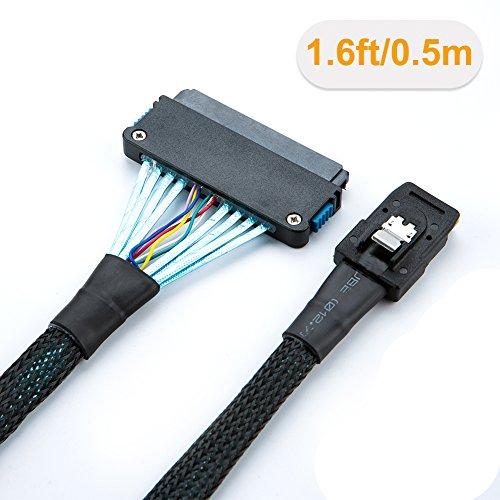 CableCreation Internal Mini SAS 36Pin (SFF-8087) Host to SAS 32Pin (SFF-8484) (Target) Cable, 1.6FT by CableCreation (Image #2)