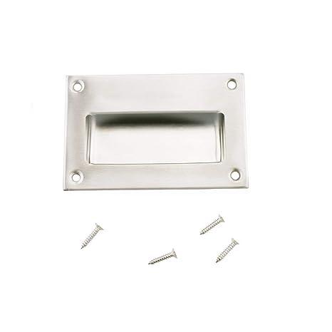 52mmx102mm 304 Stainless Steel Recessed Flush Pull Finger Insert Door Handle 2PCS