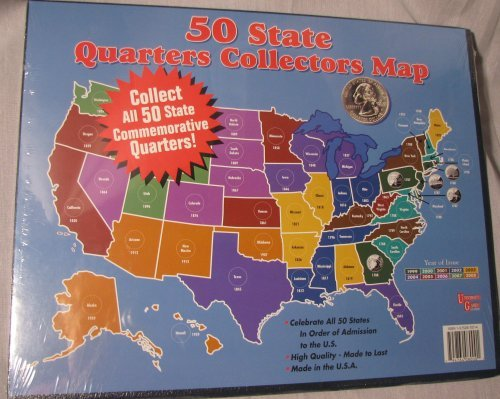50 State Quarters Collectors Map -