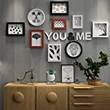 Frame Creative Photo Wall, Modern Simple Living Room Decorative Painting Large Photo Frame Wood Letter Hanging Wall Photo Frame Combination Photo Wall Home Decoration ( Color : B )