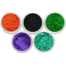 Mineral Matte Oxide & Shimmer Mica Powder DIY For Soap Making, Cosmetic, Candle Making, Nail Art, Resin Jewelry, Artist, Acrylic and other Craft Projects. Set 4 (3) Gram Jars