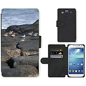 GoGoMobile Flip PU Leather Wallet Case with Credit Card Slots // M00118333 Ocean Rocks Birds Sea Summer Nature // Samsung Galaxy S3 S III SIII i9300