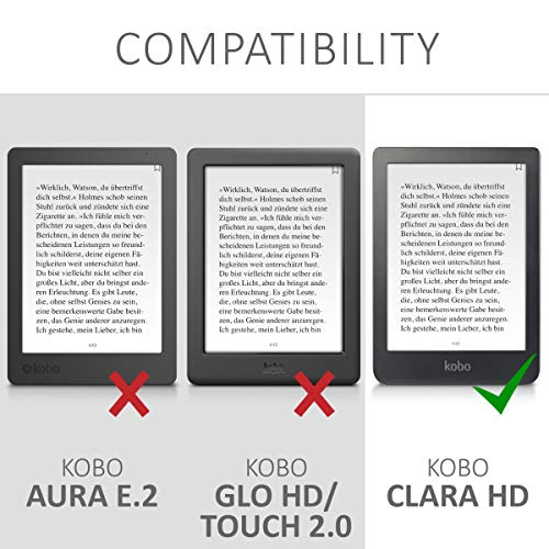 Case Compatible with Kobo Clara HD - PU e-Reader Cover - Cosmic Forest