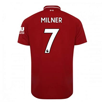 2018-2019 Liverpool Home Football Soccer T-Shirt Camiseta (James Milner 7)