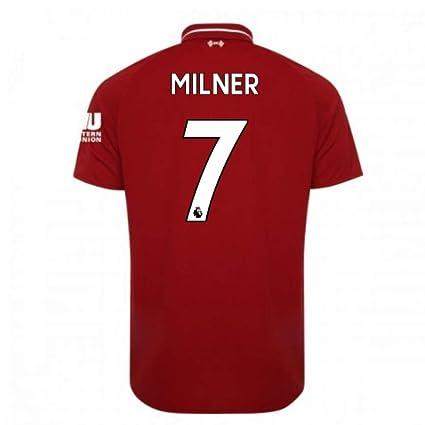 2018-2019 Liverpool Home Football Soccer T-Shirt Camiseta (James Milner 7)