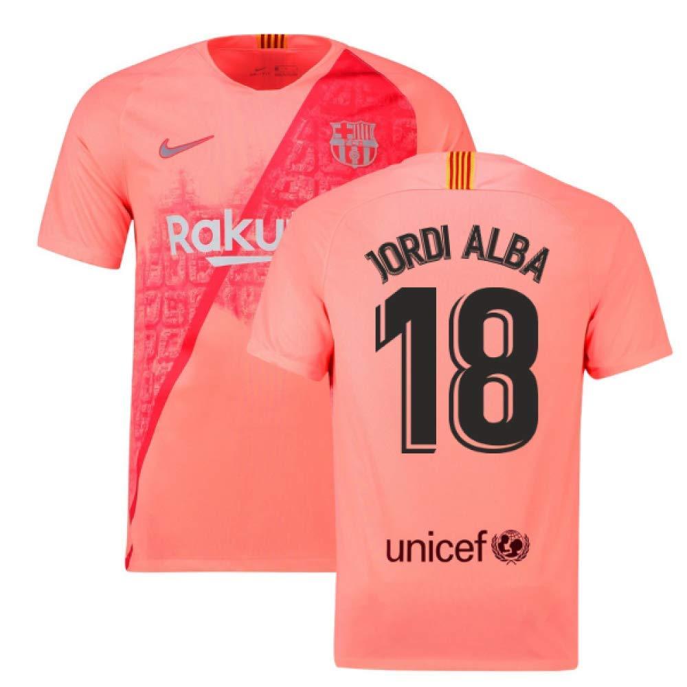 2018-2019 Barcelona Third Nike Football Soccer T-Shirt Trikot (Jordi Alba 18)