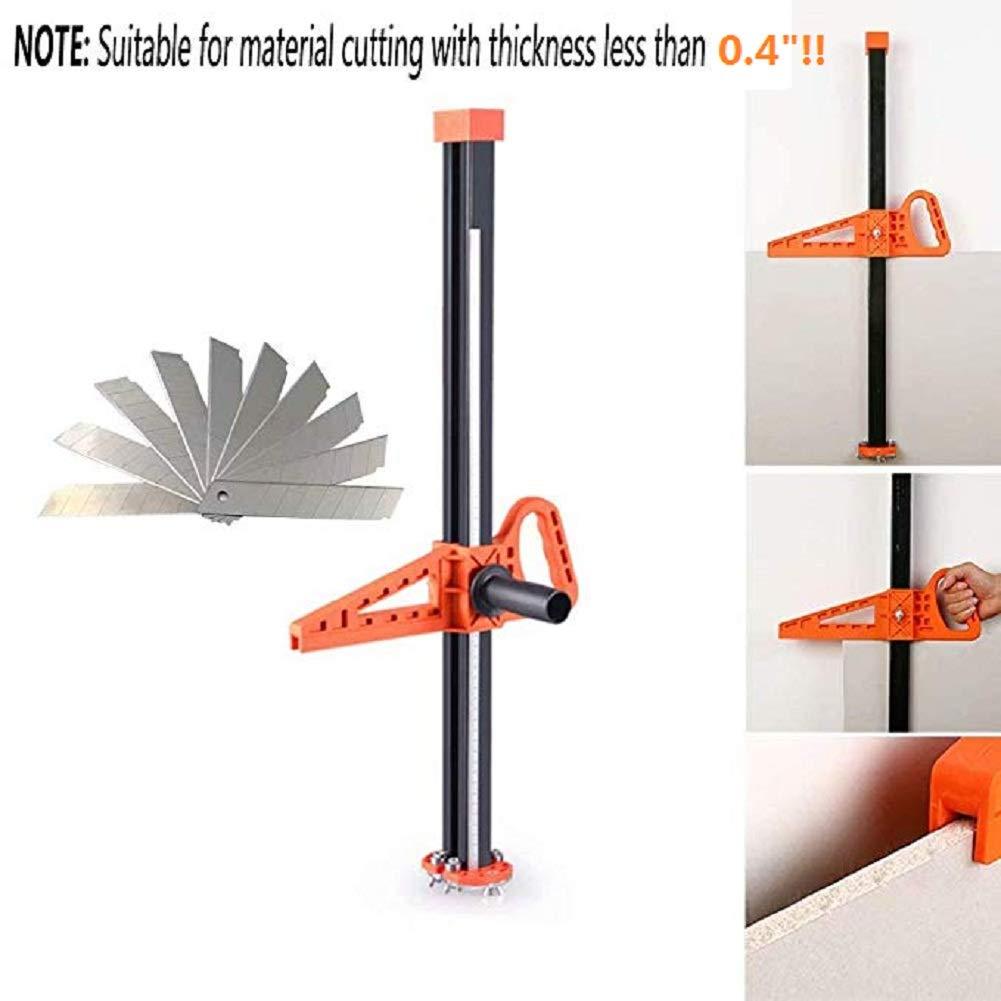 Manual High Accuracy Portable Gypsum Board Cutter, Hand Push Drywall Cutting Artifact Tool with Double Blade,4 Bearings(Cutting Range 20-600mm )10pcs blades bonus
