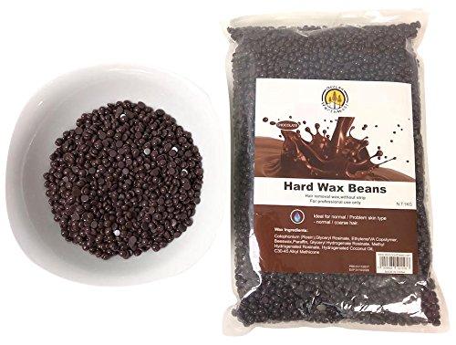 DevLon NorthWest Hard Wax Beans 2.2 Pounds Hair Removal Arm Leg Facial Women Men Self Waxing Brown Chocolate