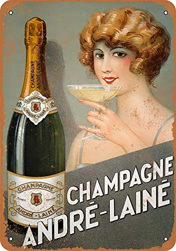 Andre Champagne - Sylty 12 x 16 Metal Sign - Andre-Laine Champagne Coffee House or Home
