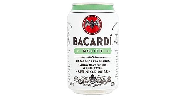 Bacardi Mojito ron bebida mixta de 330 ml (Pack de 12 x 330 ...