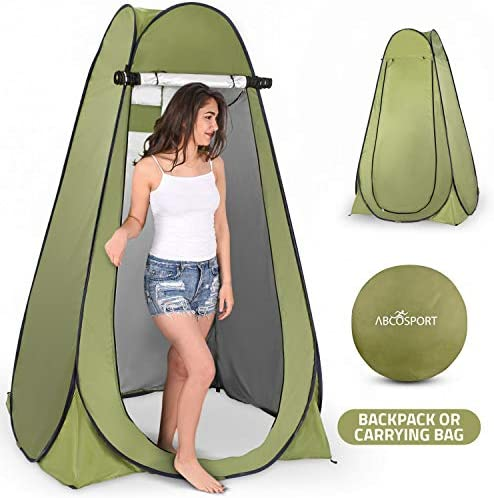 Pop Up Privacy Tent Instant Portable Outdoor Shower Tent, Camp Toilet, Changing Room, Rain Shelter with Window for Camping and Beach Easy Set Up, Foldable with Carry Bag Lightweight and Sturdy