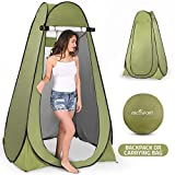Pop Up Privacy Tent - Instant Portable Outdoor Shower Tent, Camp Toilet, Changing Room, Rain Shelter with Window - for Camping and Beach - Easy Set Up, Foldable with Carry Bag - Lightweight and Sturdy