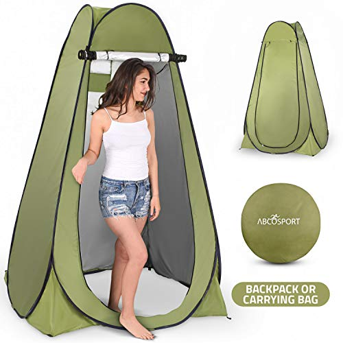 (Pop Up Privacy Tent - Instant Portable Outdoor Shower Tent, Camp Toilet & Changing Room, Rain Shelter w/ Window - for Camping & Beach - Easy Set Up, Foldable with Carry Bag - Lightweight & Sturdy)