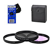 58mm Multi-Coated professional 3 Piece Lens Filter Kit (UV-CPL-FLD) For The Fujifilm XF 18-55mm f/2.8-4 R LM OIS Zoom Lens with HeroFiber Ultra Gentle Cleaning Cloth