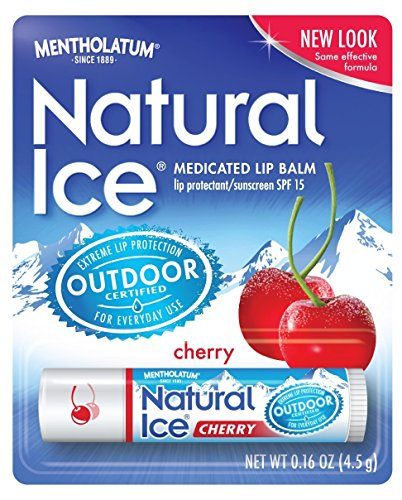 Cherry Ice - Mentholatum Natural Ice Lip Balm Cherry SPF 15 1 Each (Pack of 7)