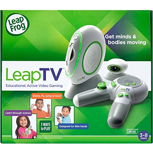 LeapFrog LeapTV Educational Active Video Gaming System Fun Time On Living Room For kid-Family Best Easy Way To Educated Your Kids (Leapfrog Tv)