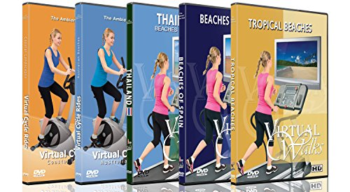 DVD Mountain Combo Pack - Scenic Virtual Walks and Cycle Videos of the famous Alpine, Gorges and Mountains - For Indoor Walking, Treadmill and Cycling Workouts (Combo Scenic)