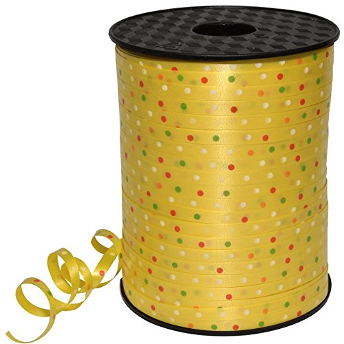 Morex Ribbon Polypropylene, 3/16 inch by 500 Yards, Yellow, Item 32705/500-605 Confetti Curling Ribbon, 3/16