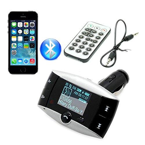 "AGPtek® 1.5"" LCD Car Kit Bluetooth MP3 Player SD MMC USB FM Transmitter Modulator + Remote Controller"