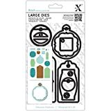 Docrafts 15-Piece Gift Tag Set Everyday Carbonised Steel Large Dies by docrafts