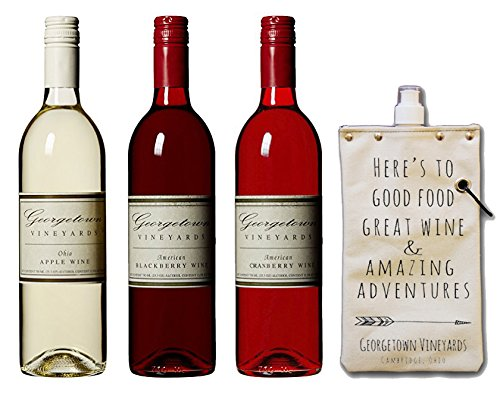Georgetown Vineyards Totable Potables Gift Set, 3 x 750 mL Wine