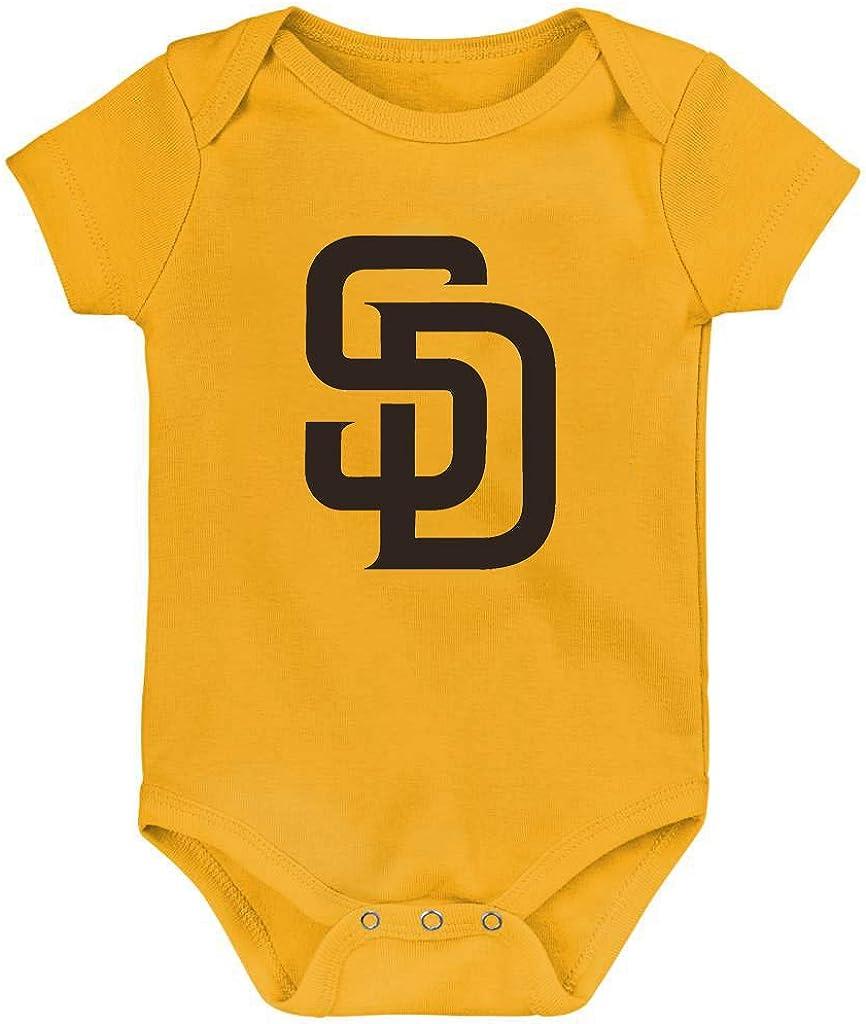 Outerstuff MLB Newborn Infants Born to Win 3 Piece Creeper Bodysuit Set
