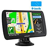 AWESAFE Car GPS 9 inch Touch Screen GPS Navigation for car Life Time Maps Free Update Preinstalled North American Map