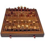 ROMBOL Xiangqi - Set, das chinesische Schachspiel, Schachvariante, Set mit 3D Figuren (General 50 mm), Holz